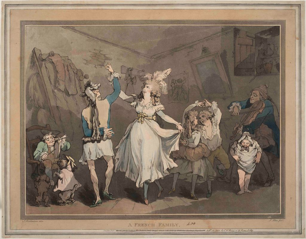 A French Family 1786  SAMUEL ALKEN  after  ROWLANDSON
