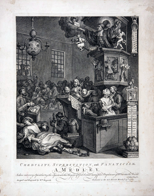Credulity, Superstition and Fanaticism 1762 William Hogarth 1697-1764