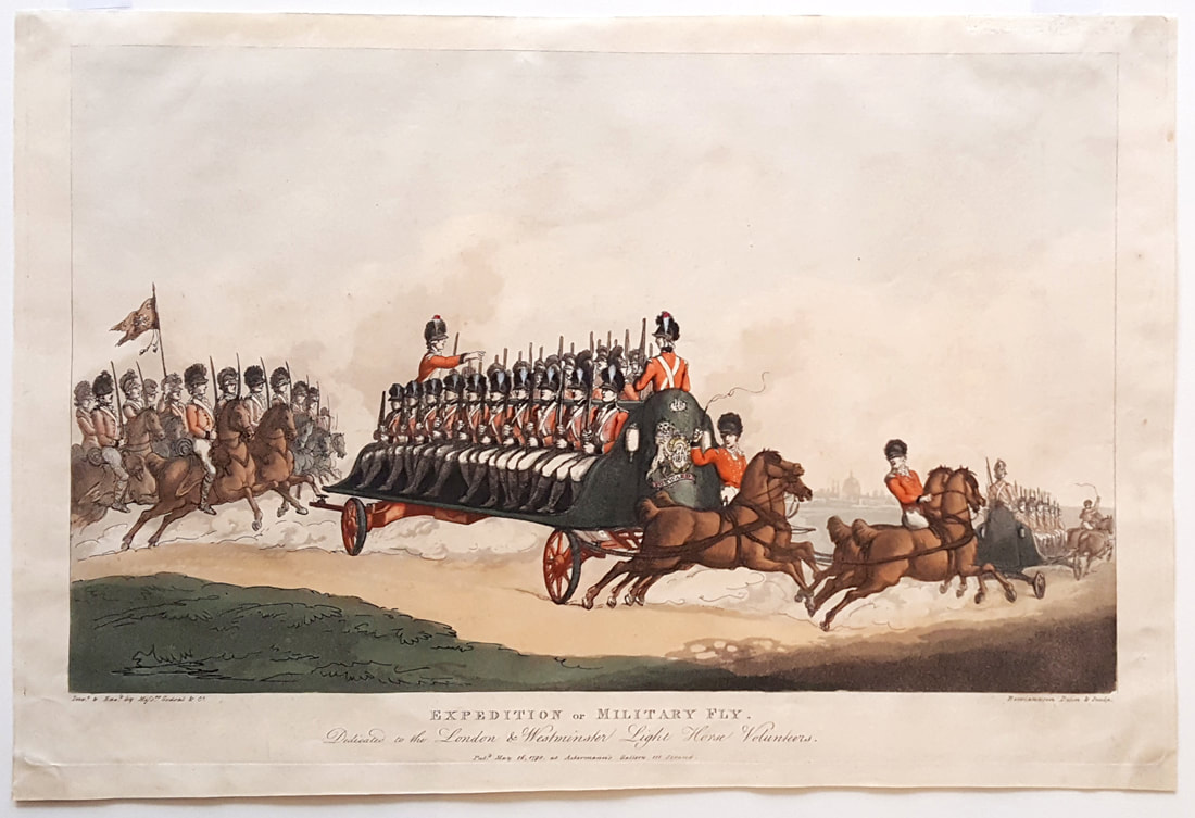 Expedition or Military Fly. Dedicated to the London & Westminster 1798  Thomas Rowlandson