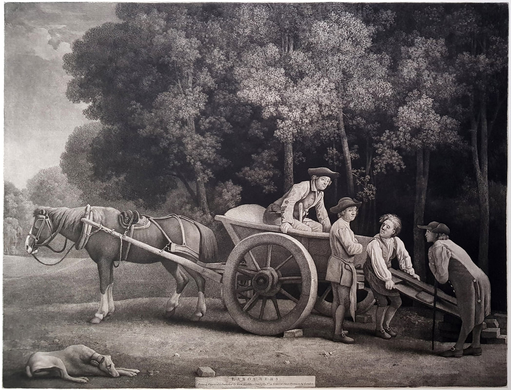 Labourers 1789  George Stubbs  Andrew Edmunds Prints