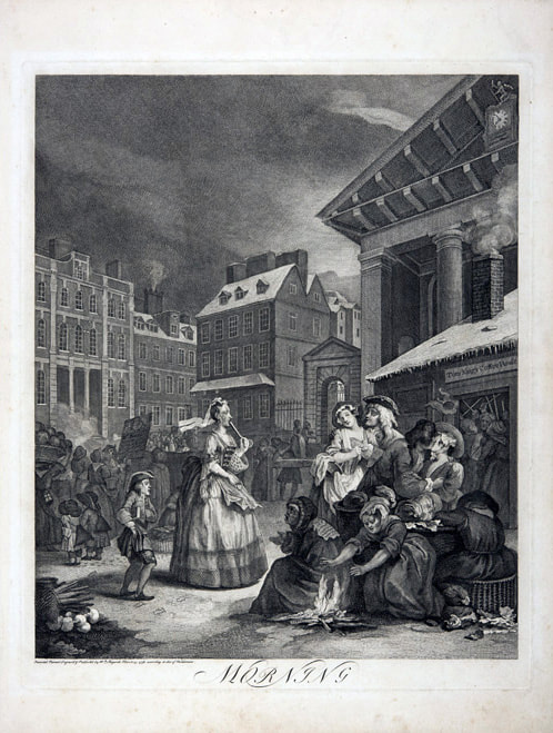 Times of Day 1738 William Hogarth 1697-1764