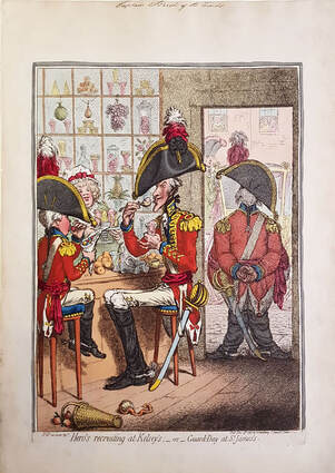 Hero's Recruiting at Kelsey's  or Guard Day at St James  1797 James Gillray  Andrew Edmunds Prints
