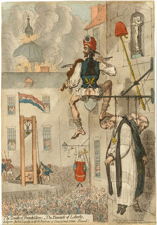 The Zenith of French Glory  The Pinnacle of Liberty  James Gillray 1793   Andrew Edmunds Prints  cr
