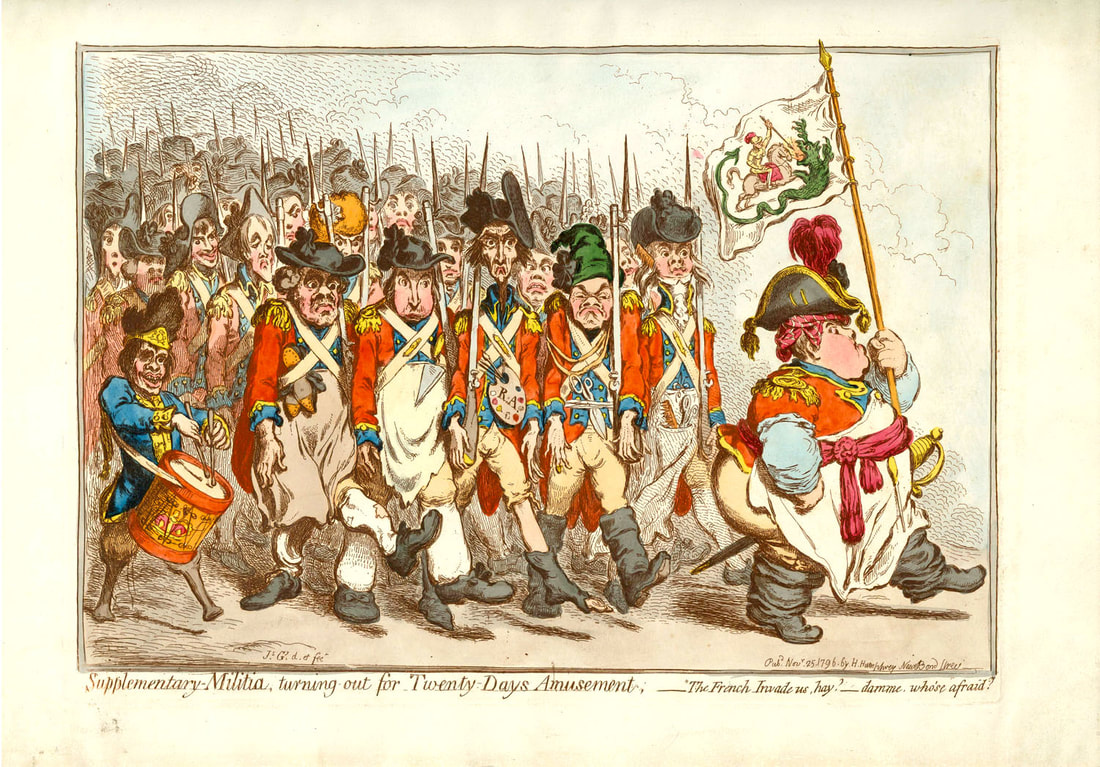 Supplementary Militia turning out for Twenty Days Amusement  James Gillray 1796  Andrew Edmunds Prints