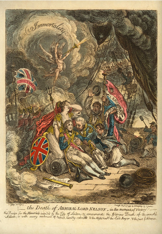 The Death of Admiral Lord Nelson i nthe moment of Victory  1895  Andrew Edmunds Prints