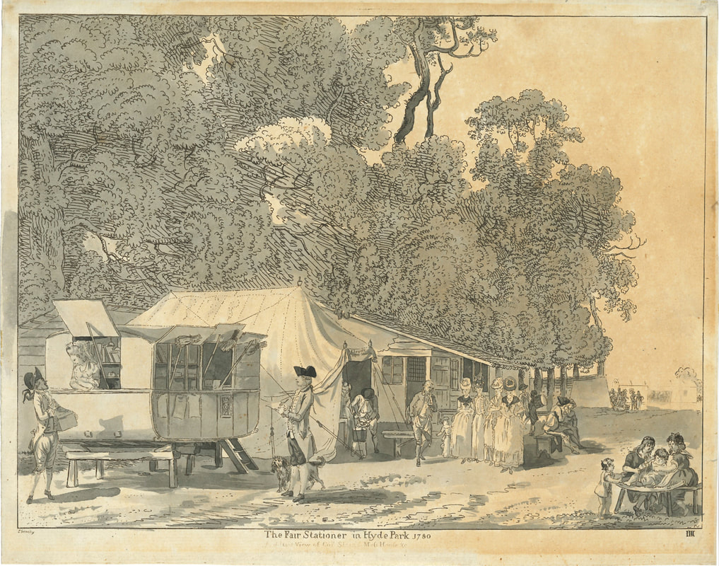 The Fair Stationer in Hyde Park 1780  Paul Sandby   Andrew Edmunds Prints