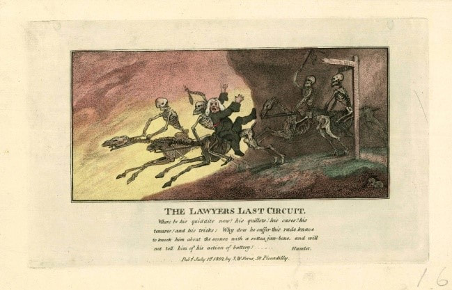The Lawyers Last Circuit 1802 J R Smith after Thomas Rowlandson