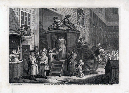 The Stage-coach, or Country Inn Yard 1747 William Hogarth 1697-1764